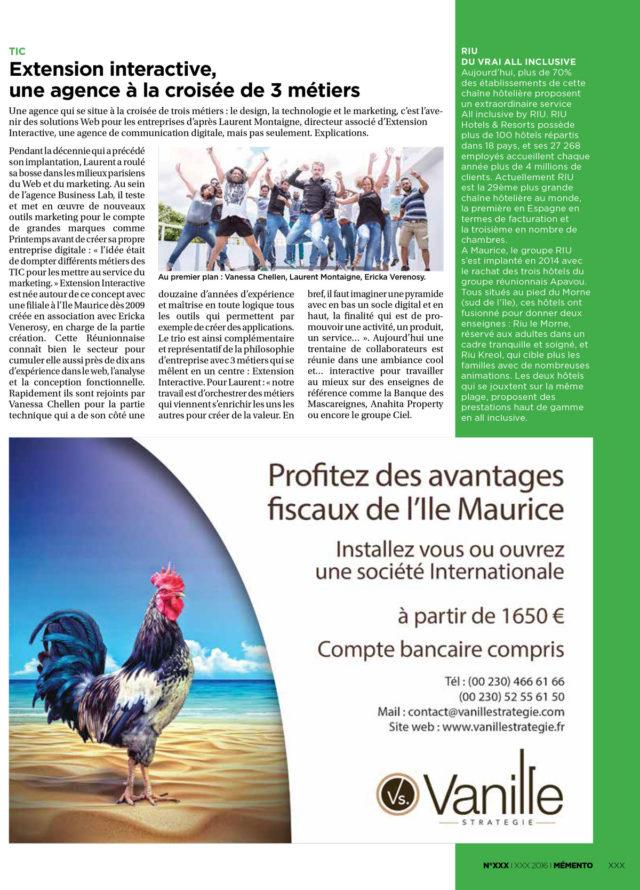 Vanille stratégie dans les medias mauriciens